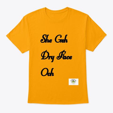 Dry Face   Africa Rocks   Lib Talk Gold T-Shirt Front
