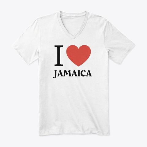 I Love Jamaica White T-Shirt Front