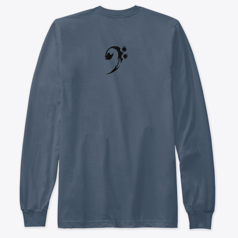 """What Moves You?"" Long Sleeve T Indigo T-Shirt Back"