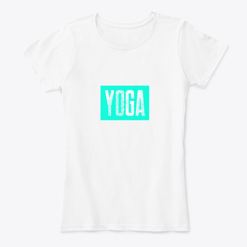 Yoga Fitness Tshirt   Casual Look  White T-Shirt Front