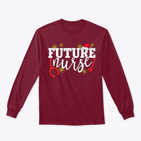 Future Nurse Santa Hat Nursing Student Cardinal Red T-Shirt Front