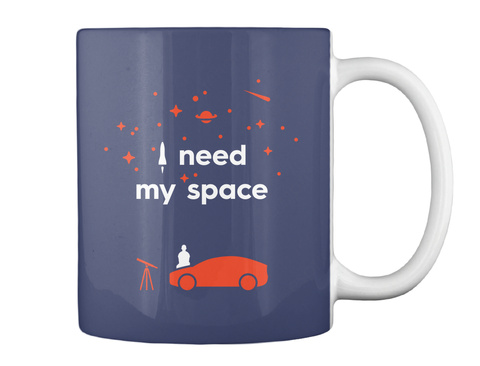 My Space Car Mug [Int] #Sfsf Dark Navy Mug Back