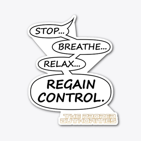 Regain Control: Speech Bubble Design Standard T-Shirt Front