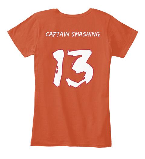 Captain Smashing 13 Deep Orange T-Shirt Back