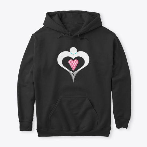 Heart Angel   Heart Of Life, White Red Black T-Shirt Front