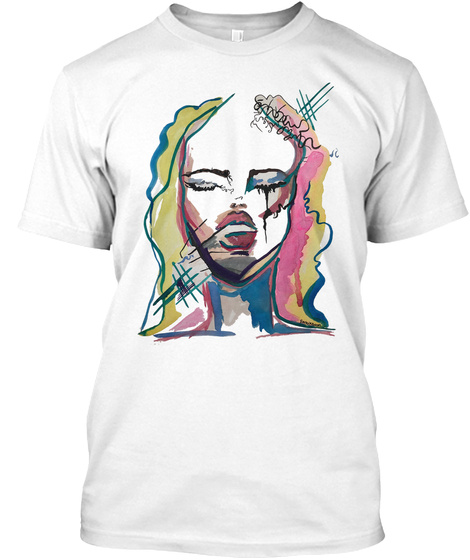 Sarai Rollins Painting #1 Casa Pacifica  White T-Shirt Front