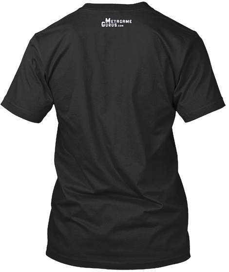 Metacame Gurus.Com Black T-Shirt Back