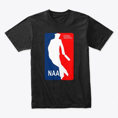 National Alcoholic Association Black T-Shirt Front