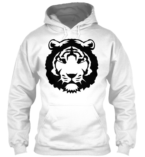 Tiger Wild Animal Fierce 12022 White T-Shirt Front