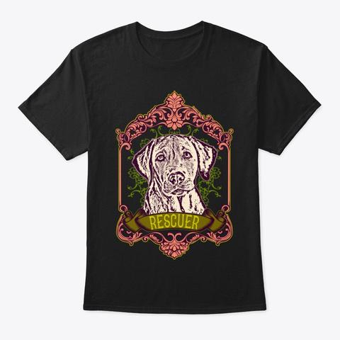 Labrador Rescuer Shirt Black T-Shirt Front