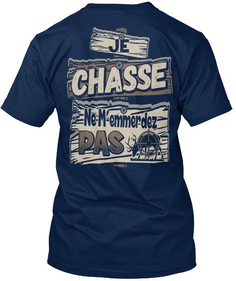 Je Chasse Nememmerdez Pas Navy T-Shirt Back