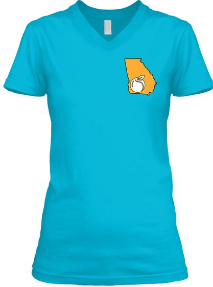 "Georgia ""Anchor"" Women's Tee  Turquoise T-Shirt Front"