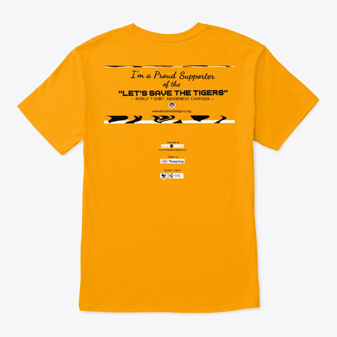 Tiger Splash Paint Gold T-Shirt Back