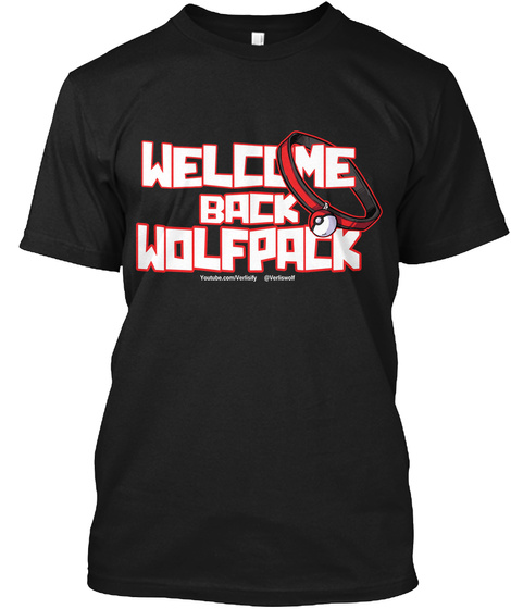 Welcome Back Wolfpack Black T-Shirt Front