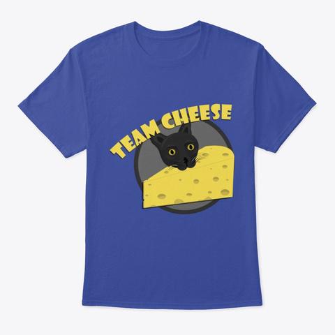 Team Cheese Deep Royal T-Shirt Front