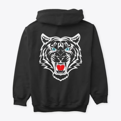 White Tiger V2 Black T-Shirt Back