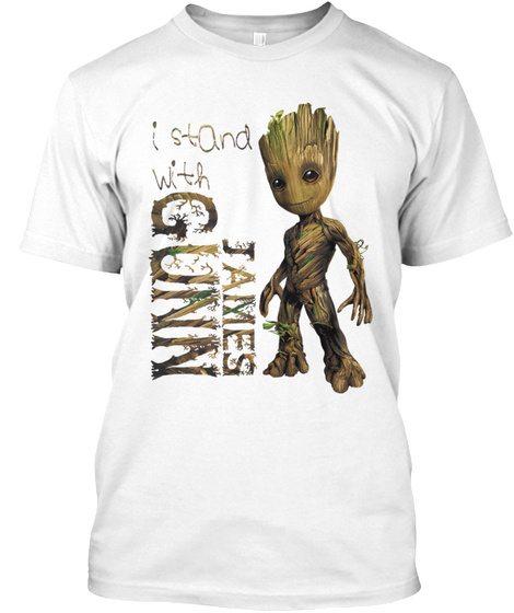 I Stand With James Gunn White T-Shirt Front