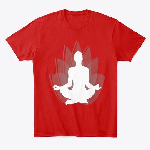 Meditation Yoga Lotus Classic Red T-Shirt Front