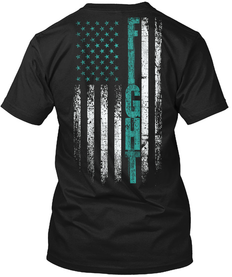 Fight Black T-Shirt Back