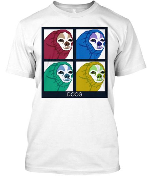 Doog White T-Shirt Front