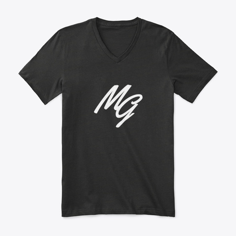 Logo V Neck Tee Black T-Shirt Front