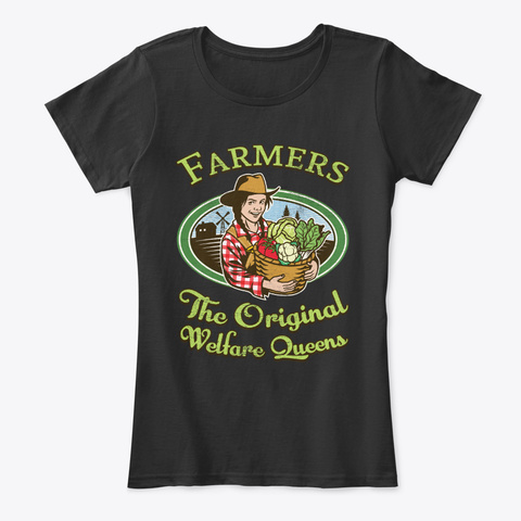 Farmers The Original Welfare Queens Black T-Shirt Front