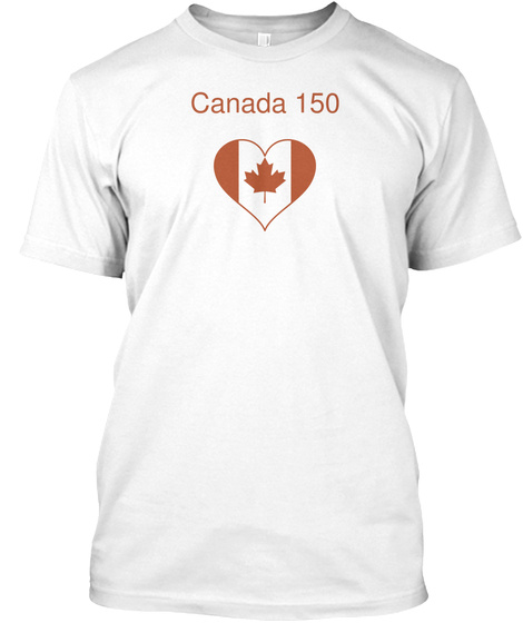 Canada 150 White T-Shirt Front