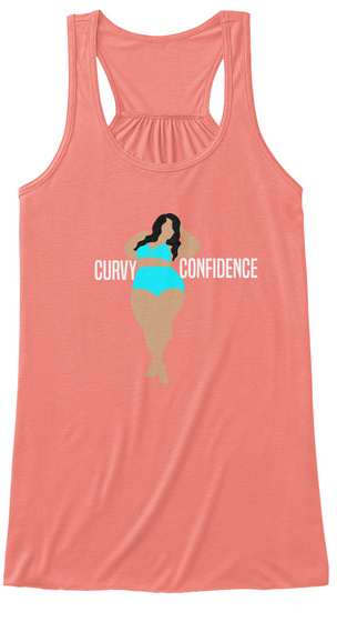 Curvy Confidence Coral T-Shirt Front