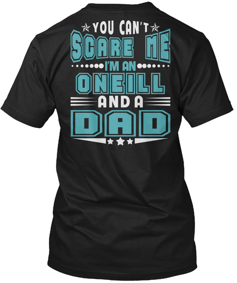 Oneill Thing And Dad Shirts Black T-Shirt Back
