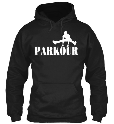 Parkour Black T-Shirt Front