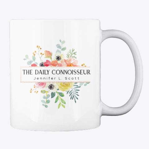The Daily Connoisseur Mug White T-Shirt Back