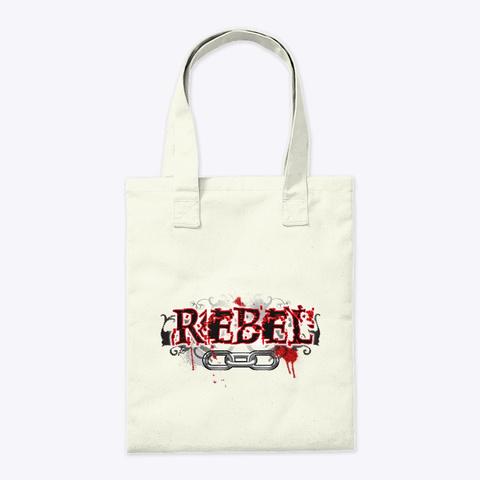Rebel Natural Tote Bag Back