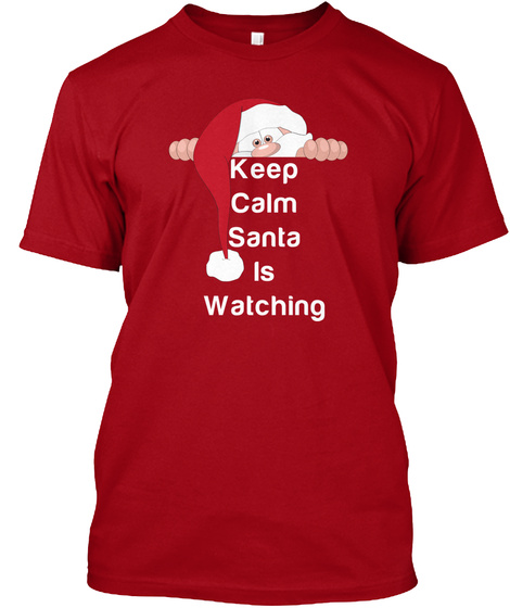 Kcsw Holiday Shirt Deep Red T-Shirt Front