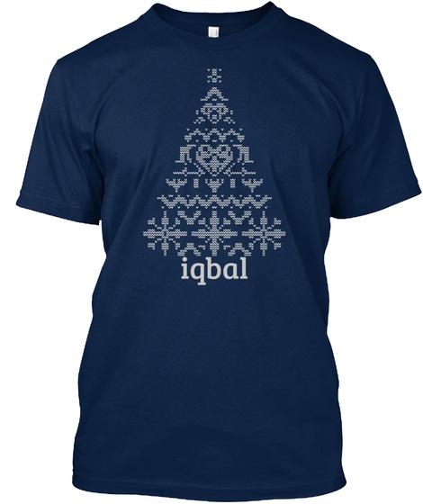 Iqbal Navy T-Shirt Front