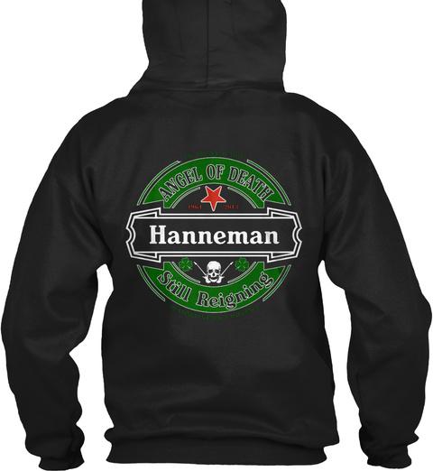 Hanneman Black T-Shirt Back