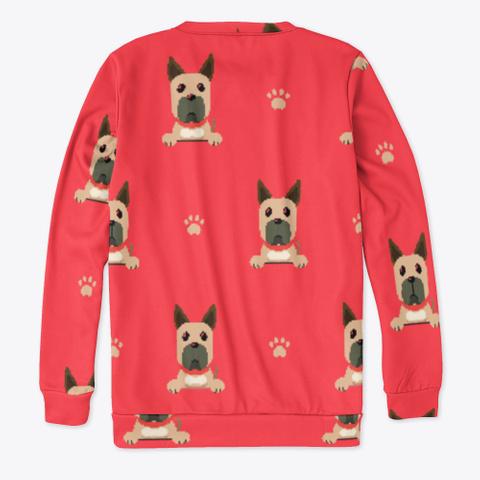 Red Cute Great Dane Sweatshirt Standard T-Shirt Back