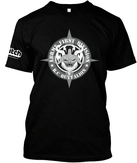 Lbrmy First Divison R.C Buttalion Black T-Shirt Front