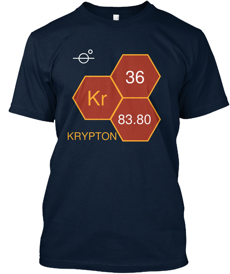 36 Kr 83.80 Krypton New Navy T-Shirt Front