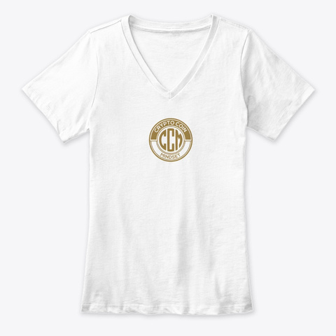 Official Crypto Coin Mind Set Logo Merch White T-Shirt Front