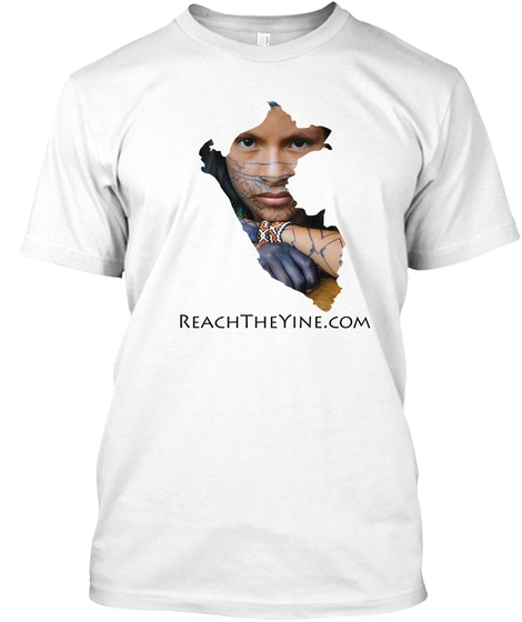 Reachtheyine.Com White T-Shirt Front