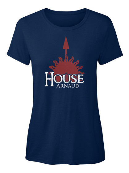 Arnaud Family House   Sun Navy T-Shirt Front