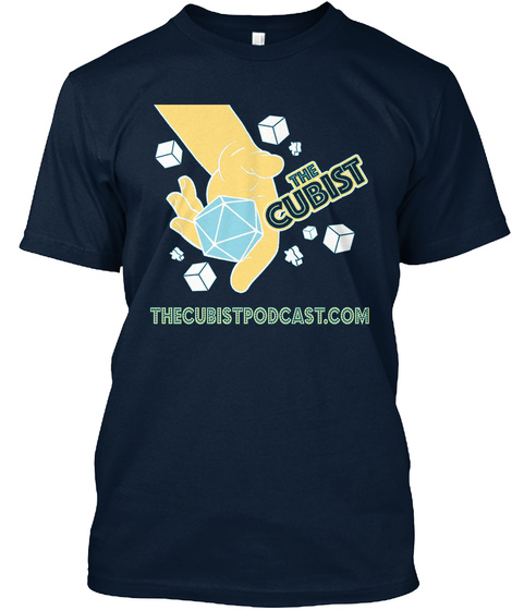 The Cubist The Cubistpodecast.Com New Navy T-Shirt Front