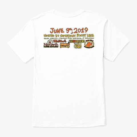 Narberth Music And Arts Festival 2019 White T-Shirt Back