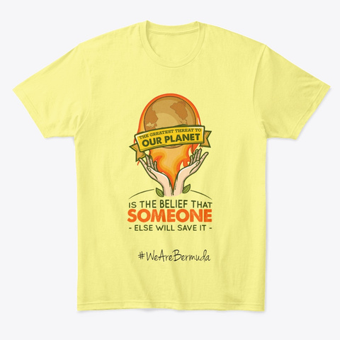 """The Greatest Threat.."" Lemon Yellow  T-Shirt Front"