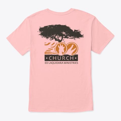 Zoo Church Pale Pink Camiseta Back