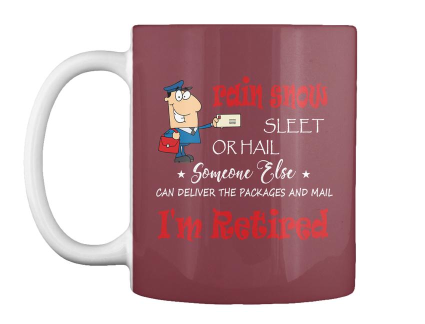 miniature 11 - Funny Retired Postal Worker Mailman Tee - Rain Suck Sleet Or Gift Coffee Mug