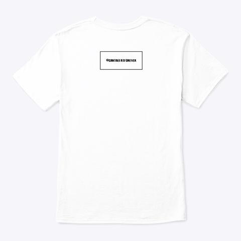 Fight White T-Shirt Back