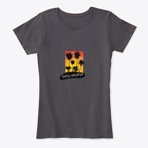 Puerto Vallarta Mexico Heathered Charcoal  T-Shirt Front