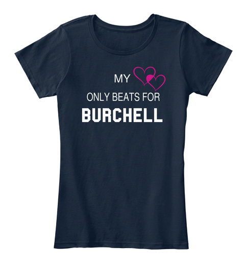 My Only Beats For Burchell New Navy T-Shirt Front