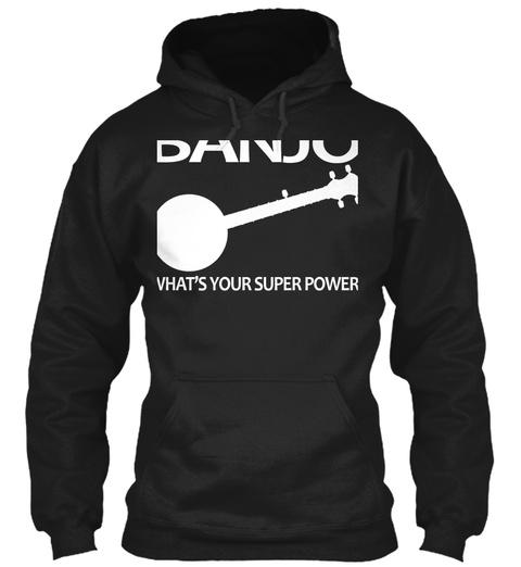 Banjo What's Your Super Power Black T-Shirt Front